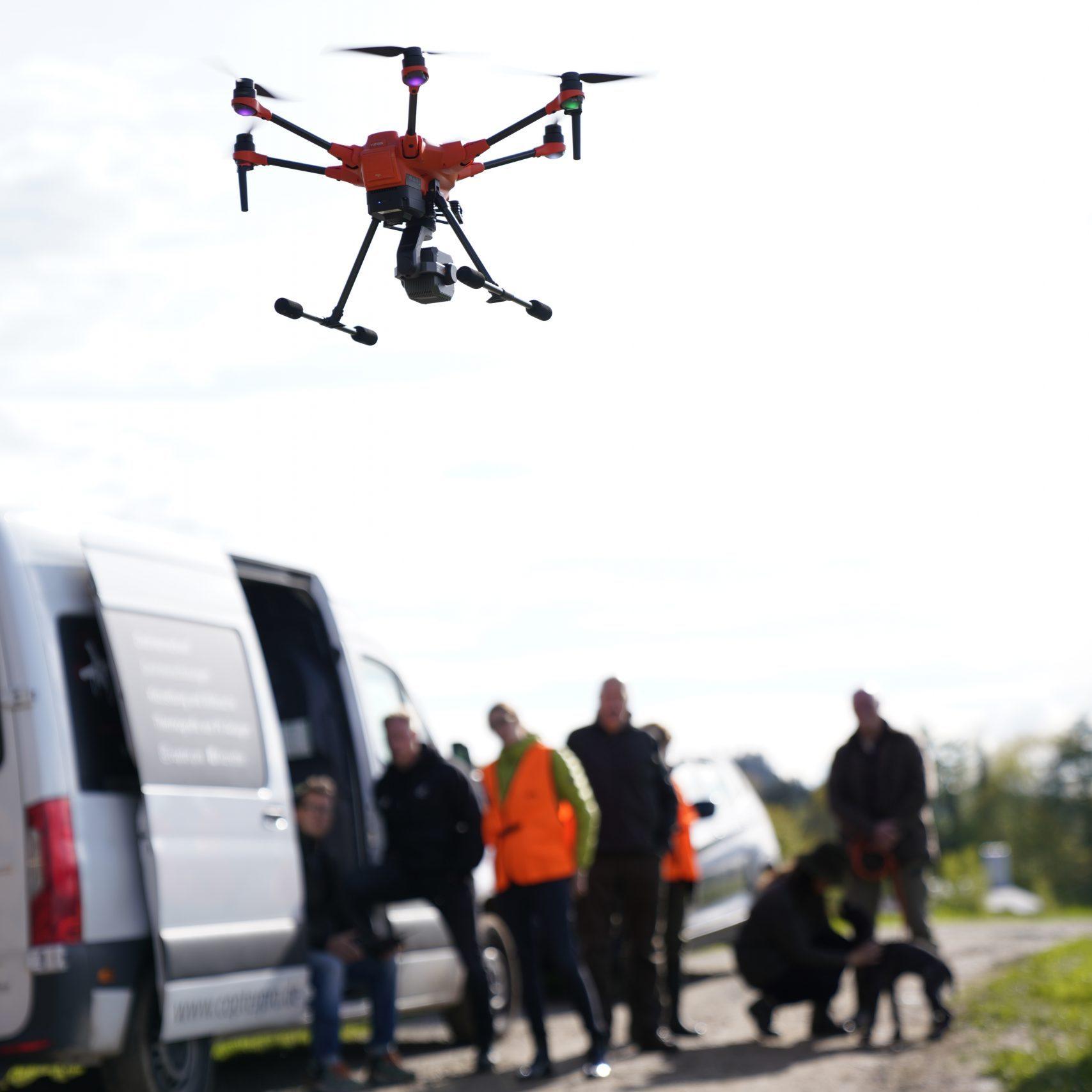 Drohnenschulung für Yuneec und DJI Drohnen mit Wärmebildkamera